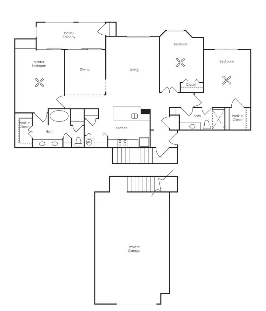 1,512 sq. ft. Seville (C1-GF) floor plan
