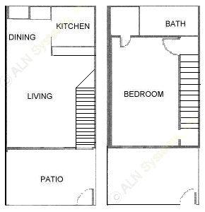 800 sq. ft. ATH floor plan