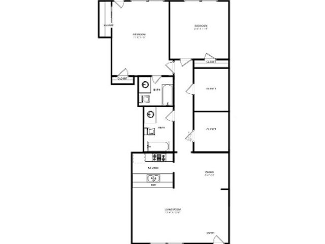 880 sq. ft. B4 floor plan