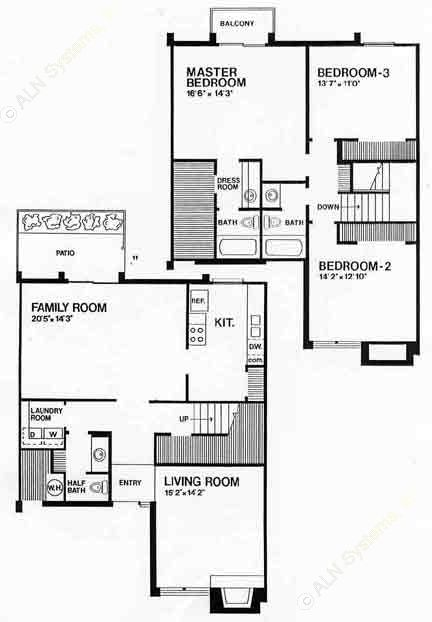 1,895 sq. ft. A floor plan