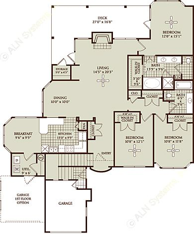1,702 sq. ft. C1 floor plan
