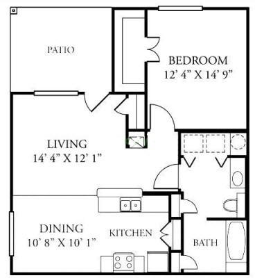 814 sq. ft. A2/60% floor plan