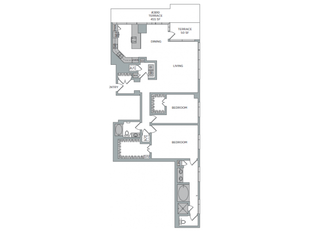 2,044 sq. ft. 2L floor plan