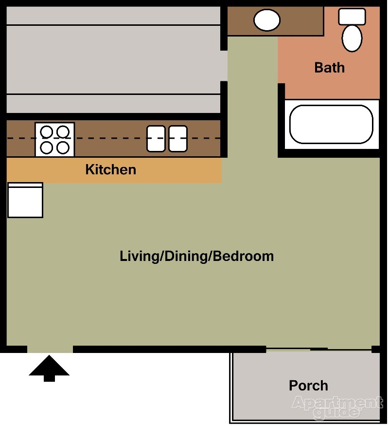 400 sq. ft. floor plan