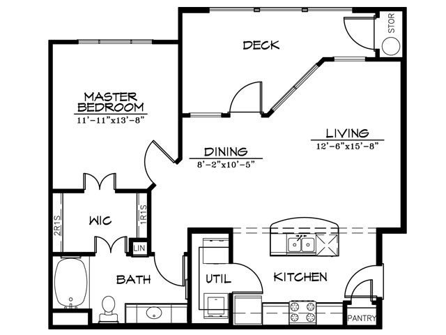 794 sq. ft. Stream floor plan