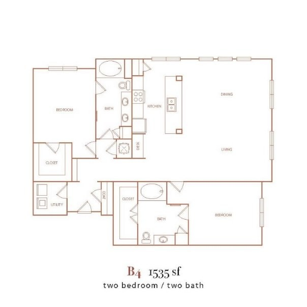 1,535 sq. ft. B4 floor plan