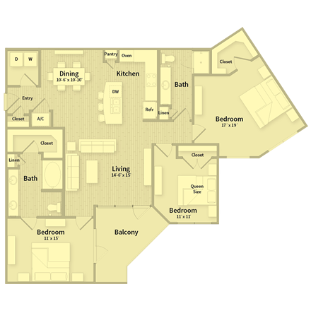 1,493 sq. ft. floor plan