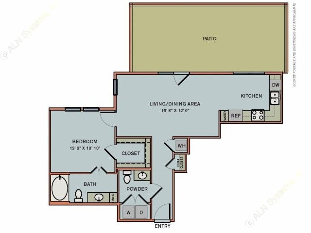 806 sq. ft. 3A1.1 floor plan