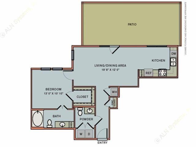 806 sq. ft. 3A1.1 floor plan