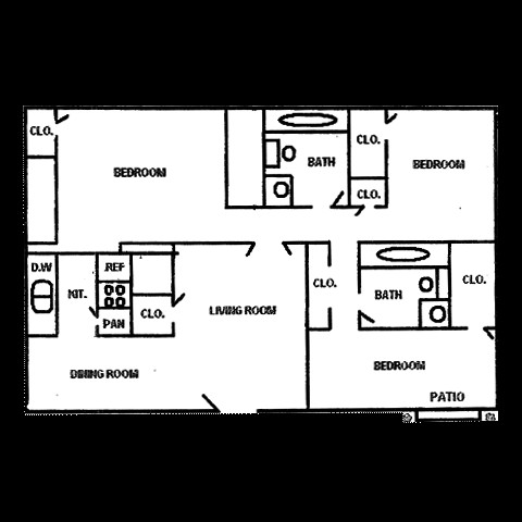 769 sq. ft. floor plan