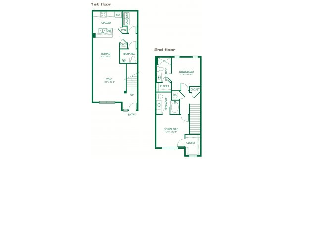 1,240 sq. ft. B4A Circuit floor plan