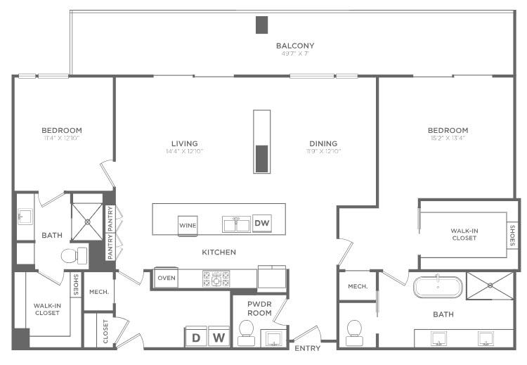 1,779 sq. ft. TB7 floor plan