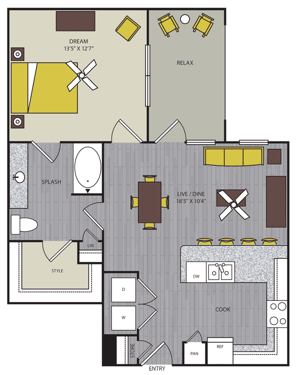 786 sq. ft. A12 floor plan