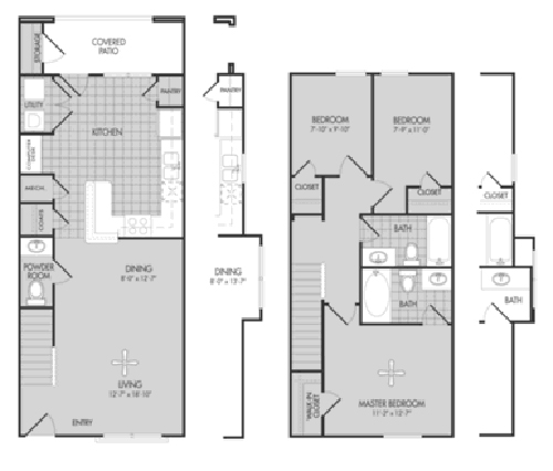 1,170 sq. ft. OAK/60 floor plan