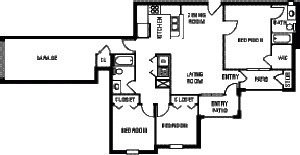 1,343 sq. ft. 60% floor plan