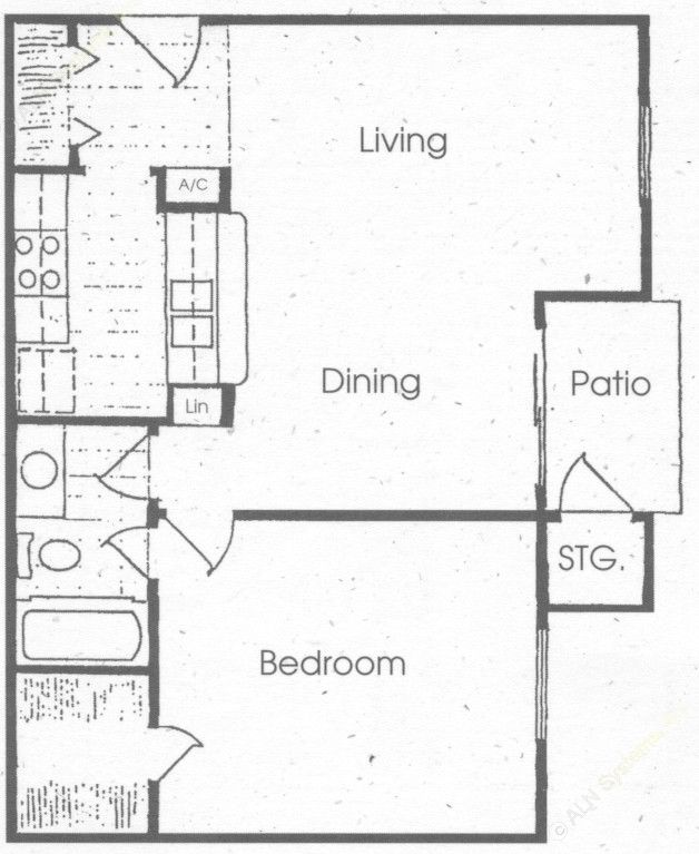753 sq. ft. floor plan