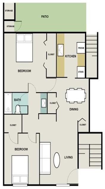 1,035 sq. ft. St Augustine floor plan