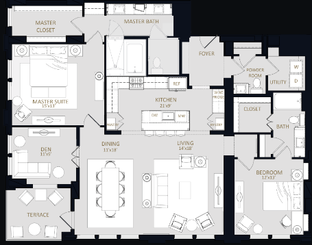 1,971 sq. ft. B4 floor plan