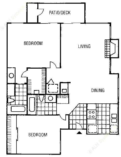 997 sq. ft. B5-A floor plan