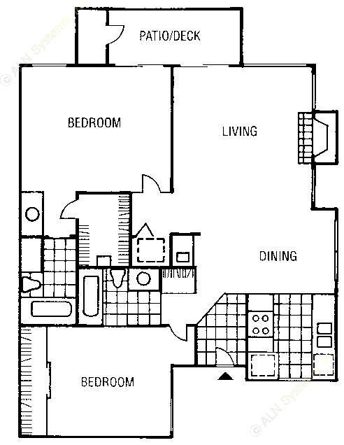 997 sq. ft. B5-A floor plan