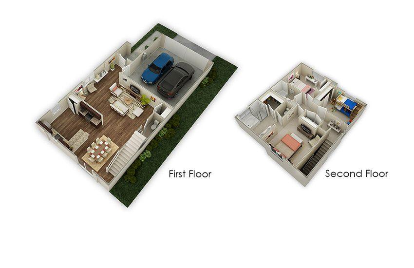 1,695 sq. ft. Magnolia floor plan