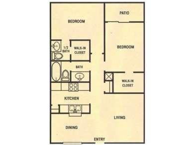 931 sq. ft. floor plan