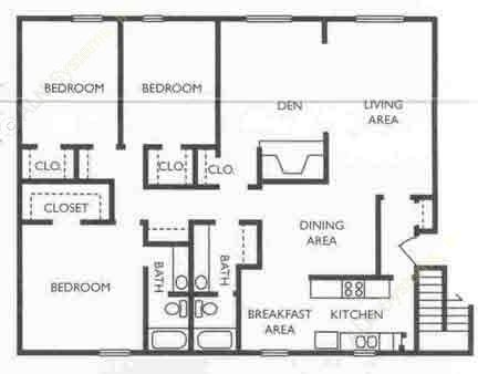 1,712 sq. ft. CEO floor plan