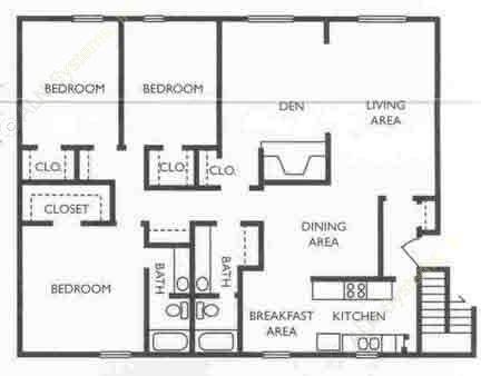 1,712 sq. ft. CEO floor plan