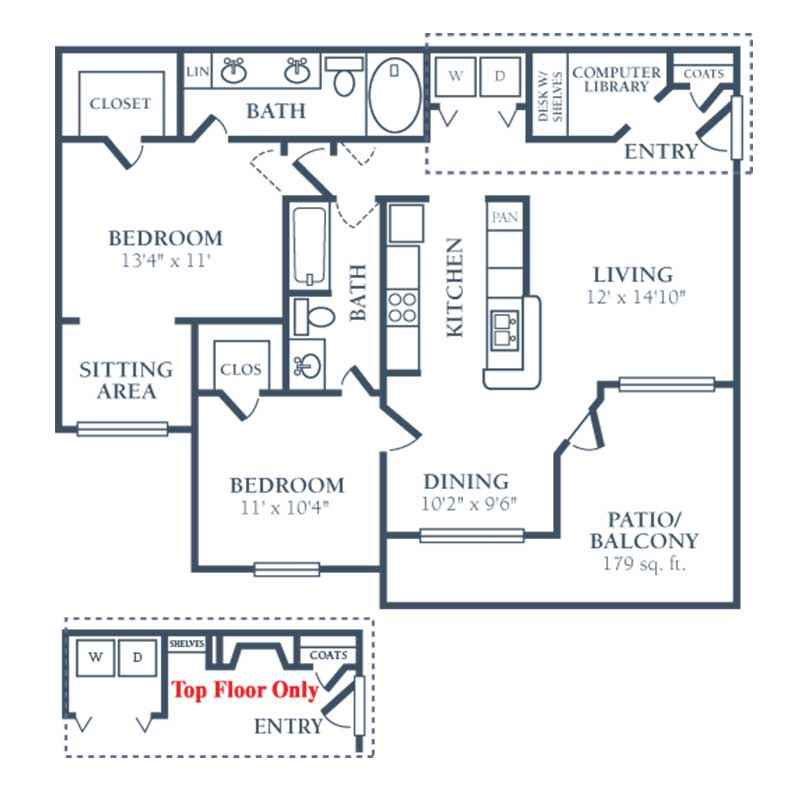 1,099 sq. ft. G floor plan