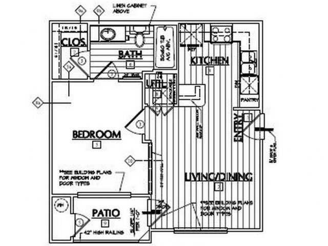 539 sq. ft. Haystack floor plan