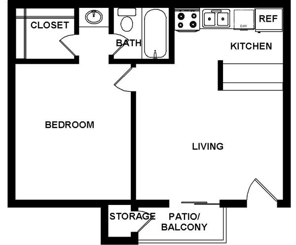 475 sq. ft. floor plan