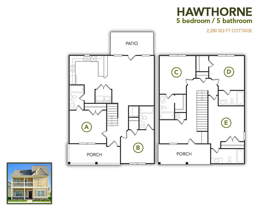 2,280 sq. ft. Hawthorne floor plan