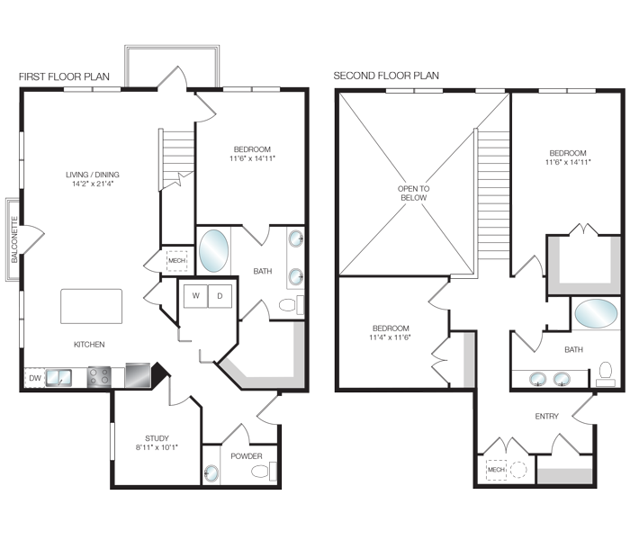 1,902 sq. ft. L3 floor plan