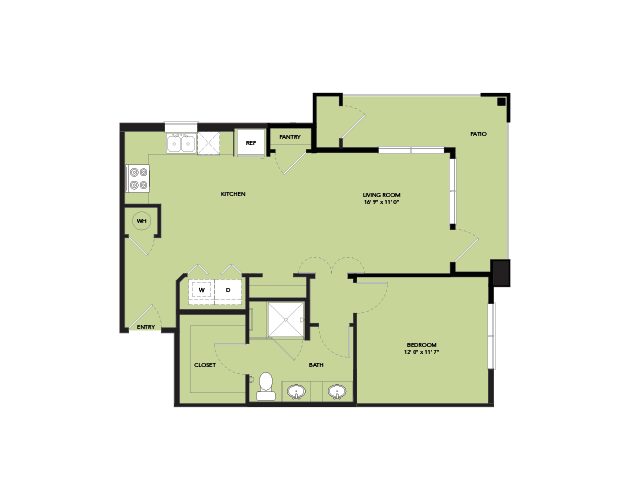 774 sq. ft. A4-S.1 floor plan