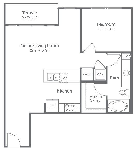 772 sq. ft. A12 floor plan