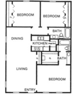 1,260 sq. ft. G floor plan