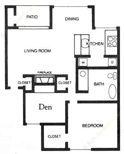 837 sq. ft. A3/B1 floor plan