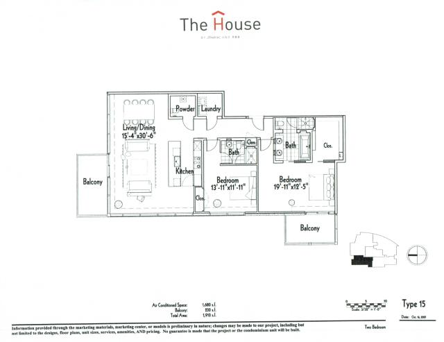 1,680 sq. ft. 15 floor plan