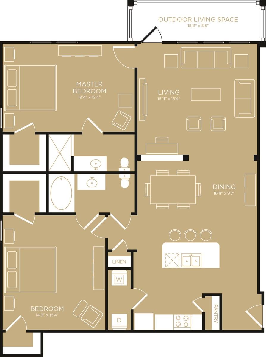 1,394 sq. ft. Sunset floor plan