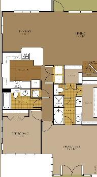 1,348 sq. ft. Stargaze floor plan