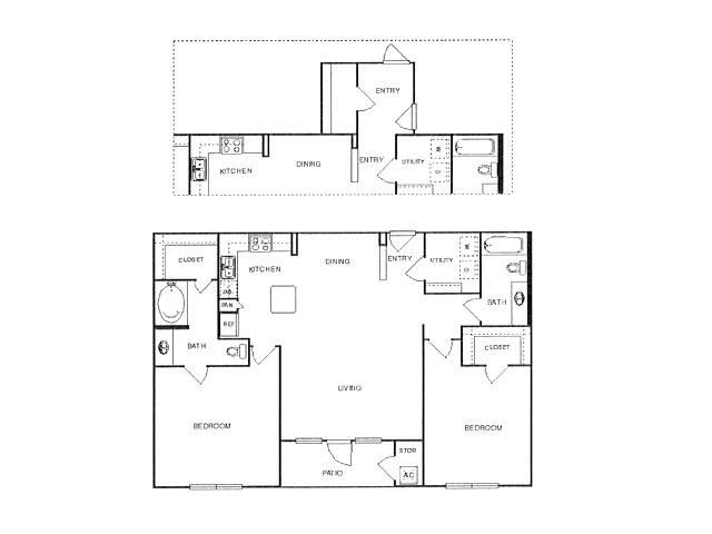 1,215 sq. ft. Majestic floor plan
