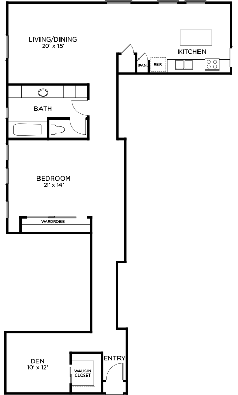 1,414 sq. ft. to 1,522 sq. ft. A14 floor plan