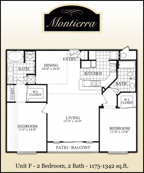 1,230 sq. ft. F2 floor plan