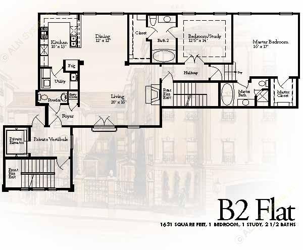1,631 sq. ft. B2 floor plan