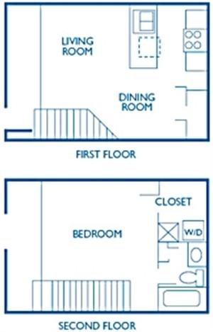 784 sq. ft. Yorkshire floor plan