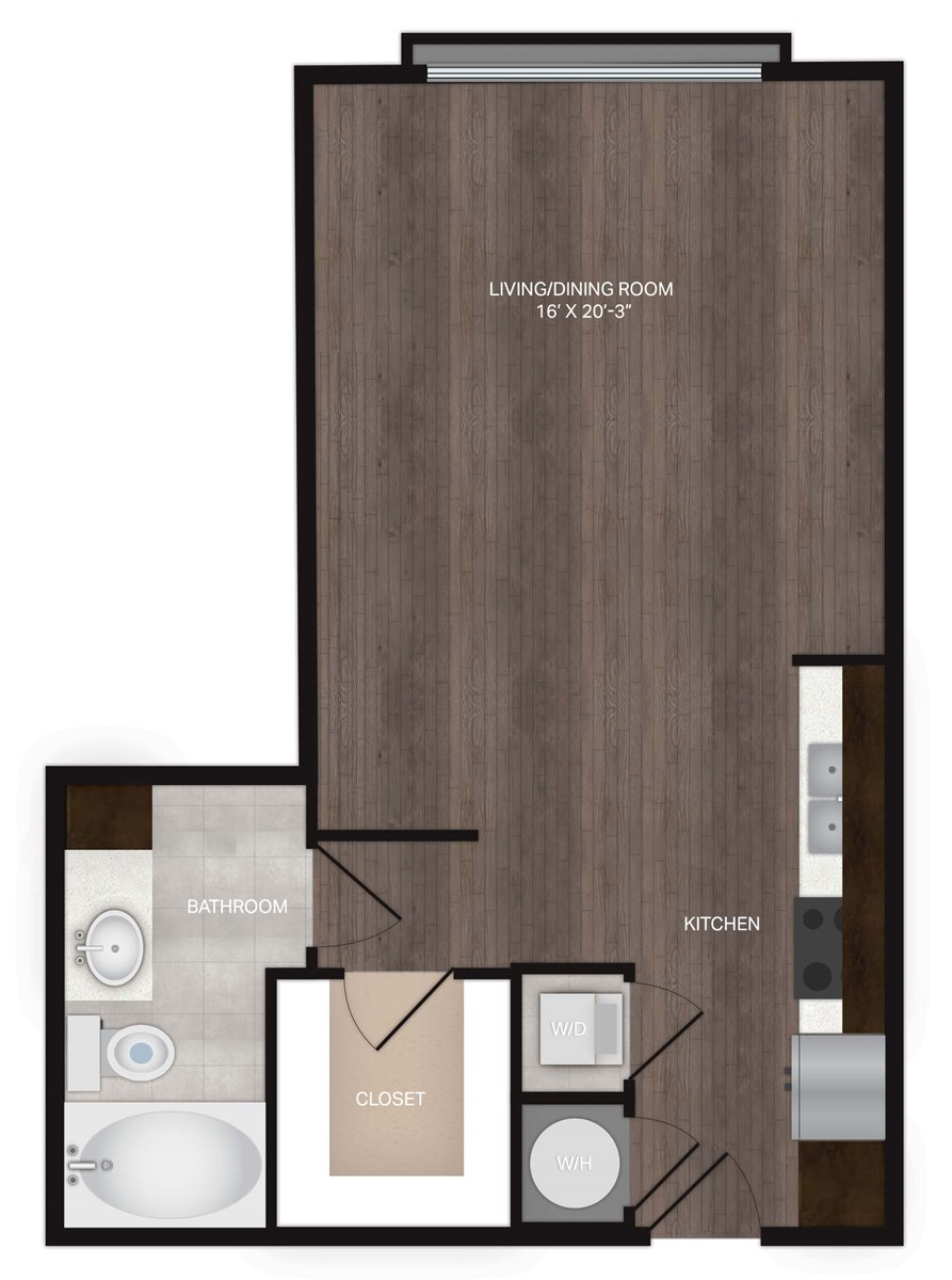 600 sq. ft. S1Alt floor plan