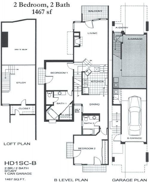1,467 sq. ft. SB5 floor plan