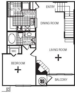 925 sq. ft. A5G floor plan