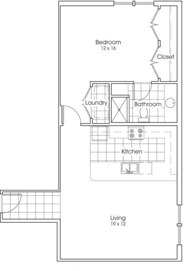 880 sq. ft. Alamo floor plan