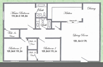 1,123 sq. ft. floor plan